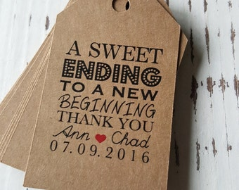 Favor Tags with Bakers Twine - Thank You Tags -  Personalized Tags - Party Tags - Wedding Favor Tags