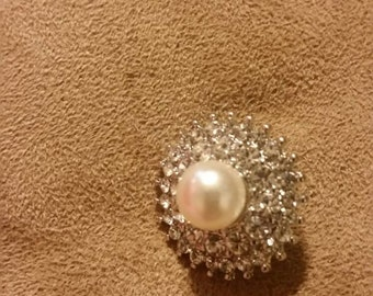 Bling pearl 18mm snap