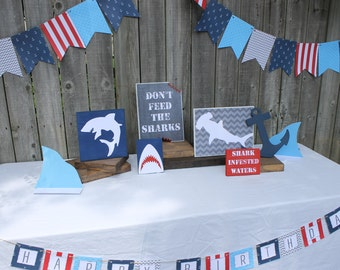 Shark Attack birthday party decorations