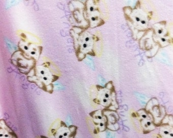Cats Meow Pink Anti Pill Fleece Fabric, 60 Inches Wide and Sold By The Yard