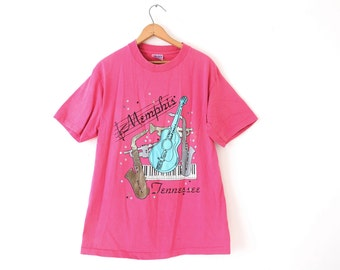 LARGE Vintage 80s/90s Memphis Tennessee Graphic T-Shirt