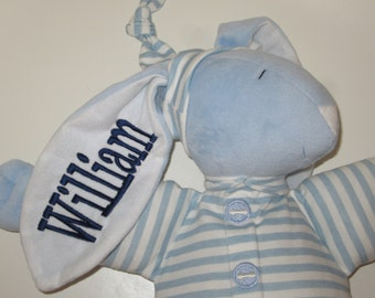 Personalized Bunny - 15 inch., Personalized Gifts, Baby Gifts, Rabbit, Baby Boy, Light Blue, Monogram, Monogrammed, Bunnys, Stuffed Animals