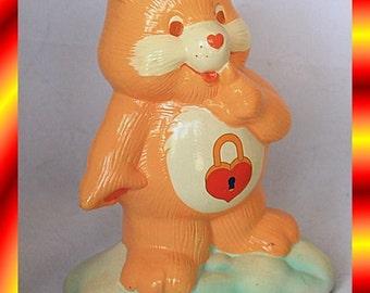 Vintage Secret Care Bear Ceramic Bank