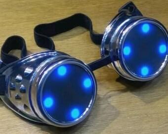 Cyberpunk / Steampunk animated Neopixel goggles. Halloween, cosplay, LARP