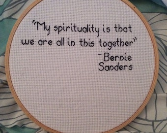 Bernie Sanders Cross Stitch