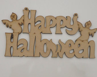 Happy Halloween hanging sign (with holes)