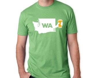 Cheers Washington, Washington Beer Shirt, Beer T-Shirt, Men's