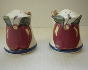 Clouds Folsom Pottery Salt and Pepper Shakers - 1995