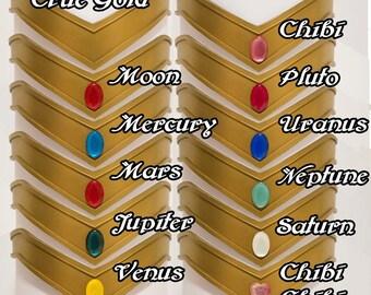 Sailor Scout Tiaras - True Gold
