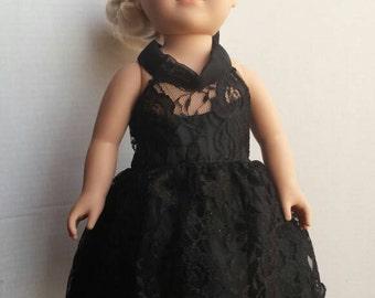 Black American Girl Doll Dress / 18 inch Doll Party Dress