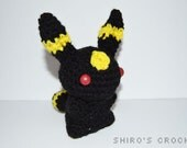 Umbreon the Moonlight Pokemon #197 Amigurumi Crochet Eeveeloution