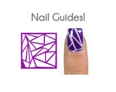 Shattered Glass Shield Vinyl Nail Guides