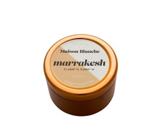 Marrakesh Travel Candle. Hand-poured. 15 hr burn time