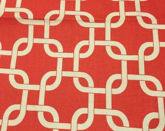 Premier Prints Coral and White Gotcha by the half yard
