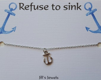 Best Friend Anchor Charm Necklace And Friendship Quote
