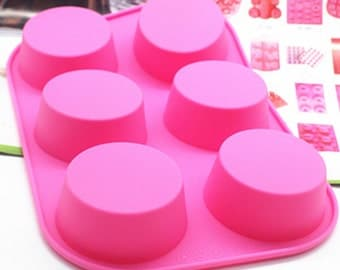 Flexible Silicone Round Cake Soap Mould For Fimo Resin Crafts