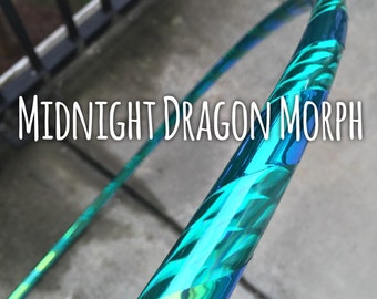 Midnight Dragon Morph Custom Polypro Hula Hoop