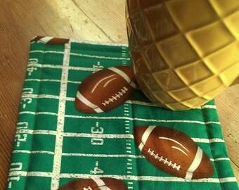 Football Mug Rug Etsy
