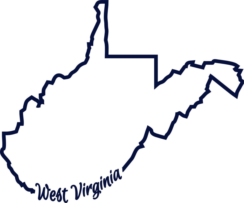 wv west virginia outline state script words one color svg. Black Bedroom Furniture Sets. Home Design Ideas