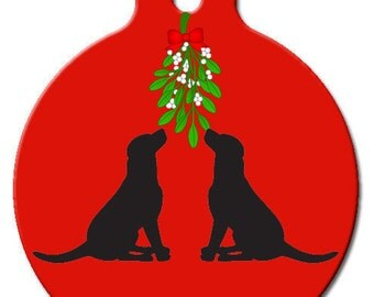 Mistletoe Kisses Pet ID Tag