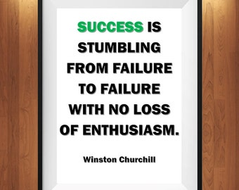 8X10 Instant Download, Success Is Stumbling,Motivational,Printable Wall Art,Instant Download,Typography,Digital Download,Quote Print