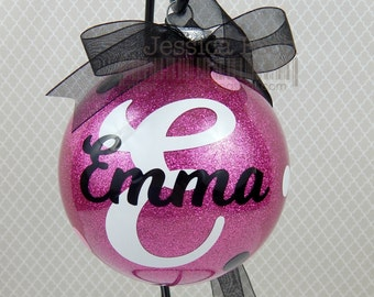"""Personalized 4"""" Circle Glass Holiday Ornament~ Teacher Gifts, Secret Santa, Holiday Gifts"""