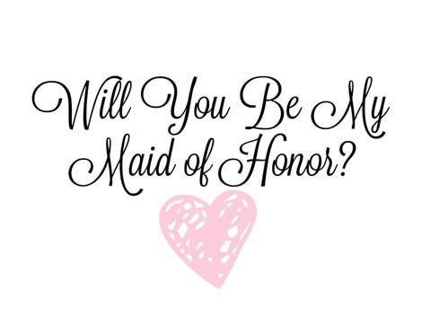 Printable will you be my maid of honor beautiful 5x7 heart printable will you be my maid of honor beautiful 5x7 heart design pronofoot35fo Image collections