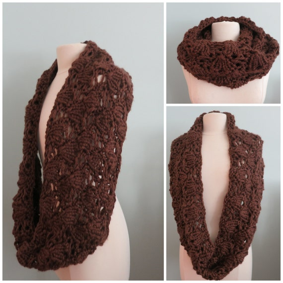 Knitting Pattern For Infinity Scarf With Bulky Yarn : Knitting Pattern, Cowl, Infinity Scarf, Super Bulky Yarn, Chunky Cowl, Lace C...