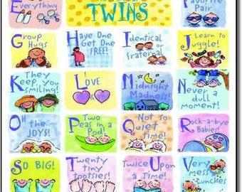 ABC's of TWINS Print