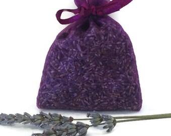 Lavender Sachet Bag - Organic Lavender in Organza
