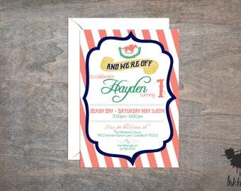 Derby Birthday Theme Invitation (25 Invitations)