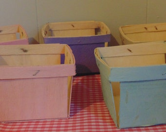 Pastel Painted Berry Boxes