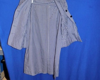 1950 Blue Checked Two Piece Suit, Bust 42""