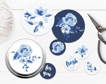China Blue Jar Toppers and Stickers
