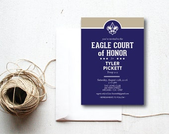 INSTANT DOWNLOAD Eagle Court of Honor invitation / Eagle Court invite / Court of Honor invitation / Eagle Court ceremony / Boy Scouts invite