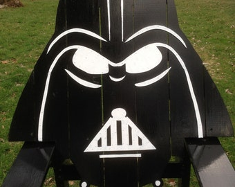 Darth Vader Adirondack Chair painted version, Star wars themed chair,storm trooper,big man chair,gaming, patio furniture, garden seating