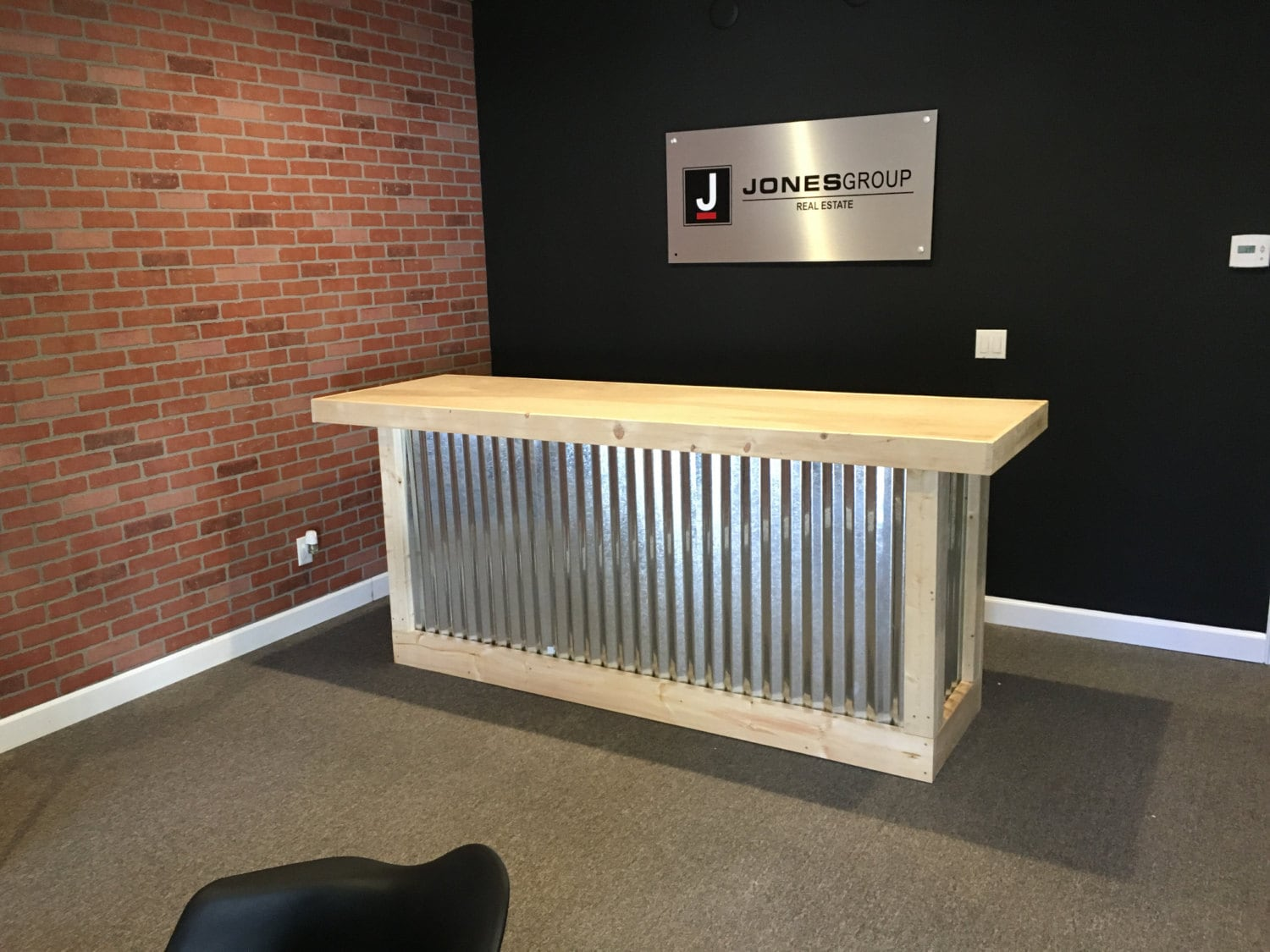 The Counter - 6' corrugated metal rustic sales counter ...