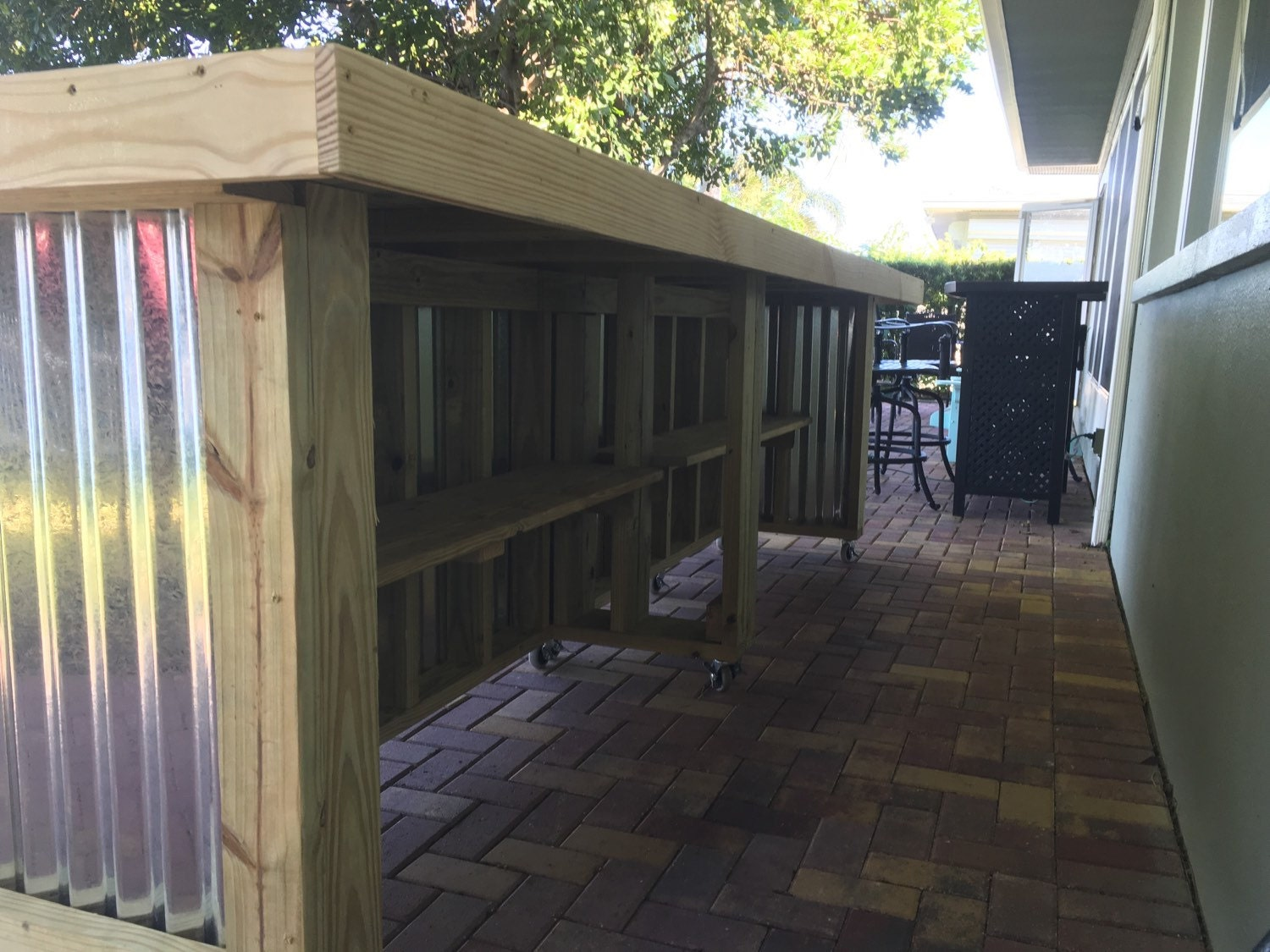 The Beer Pong 12 Corrugated Metal Rustic Outdoor Patio Bar