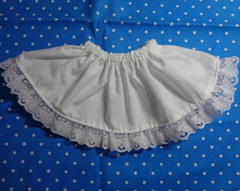 5 Inch-WHITE Cotton 1/2 Slip for an 18 Inch Doll American Girl-Shown on my American Girl Doll