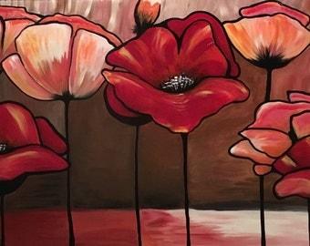 Tammy Ranay • London Poppies Painting