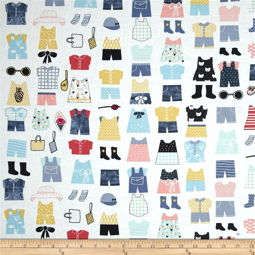 Childrens fabric by the yard quilting paper dolls for Children s clothing fabric by the yard