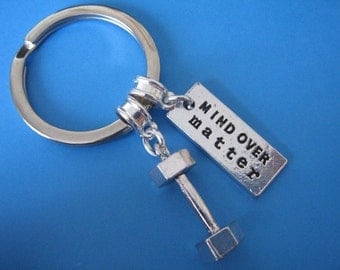 Weight Lifting Keychain Weights Dumbbell Crossfit Strength Training Keyring