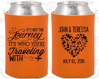 Its not the Journey, Its who your traveling with, Personalized Gift, Destination Wedding Gift, Destination Gift, Destination Favors (454)