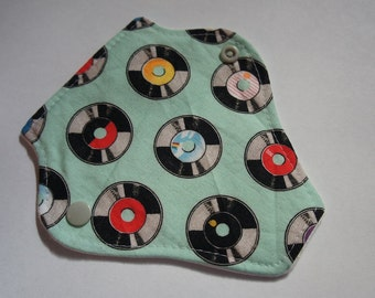 reusable cloth menstrual pad / panty liner / 'records'