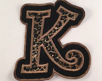 IRON ON Alphabet Applique Patch - Curlz Double Applique - (Style 9), Embroidered Patch, Alphabet Patch, Made to Order Patch, Cute Patch