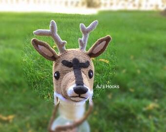 Crocheted Deer Hat. Deer Hat.