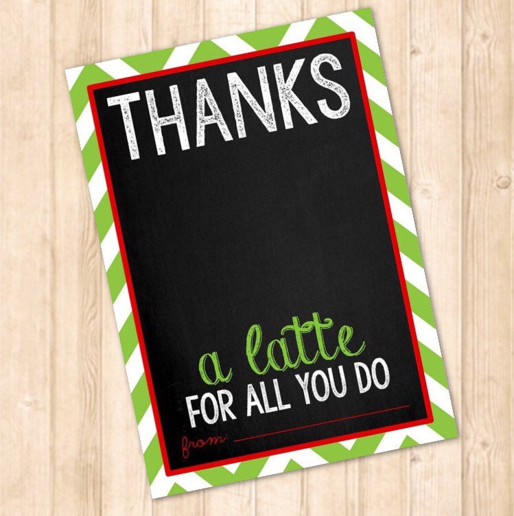 It is an image of Juicy Thanks a Latte Christmas Printable