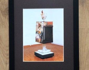 """Framed and Mounted Odalisque by Robert Rauschenberg  - 16"""" x 12"""" - Pop Art"""