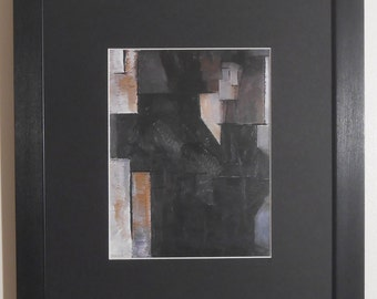"""Mounted and Framed - Untitled Print by Piet Mondrian - 14"""" x 11"""""""