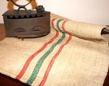 Vintage grain sack, antique linen, European grainsack fabric, flour sack, home decoration, pillow case, upholstery, hemp, burlap